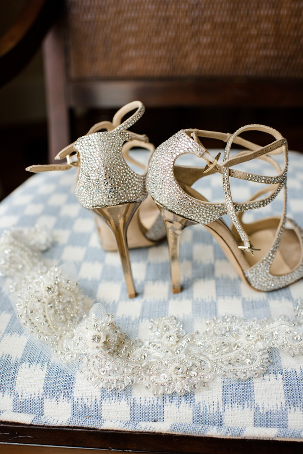 Bride's heels and garter  //  Hilton Head Island wedding photos by Donna Von Bruening  //  A Lowcountry Wedding Magazine & Blog