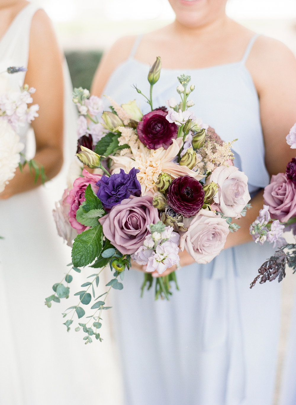 Lavender wedding bouquets at The Island House  Outdoor wedding ceremony at The Island House on Johns Island SC  //  Charleston wedding florist On A Limb Floral Studio