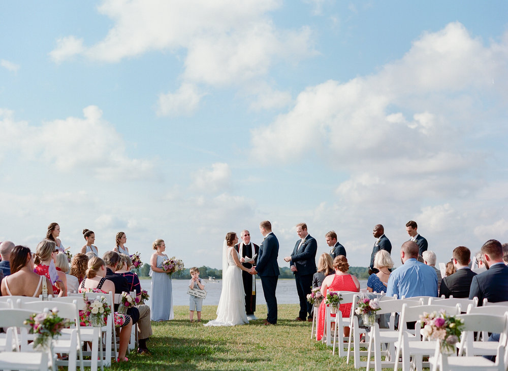Outdoor wedding ceremony at The Island House on Johns Island SC  //  Charleston wedding photos by Lauren Jonas Photography