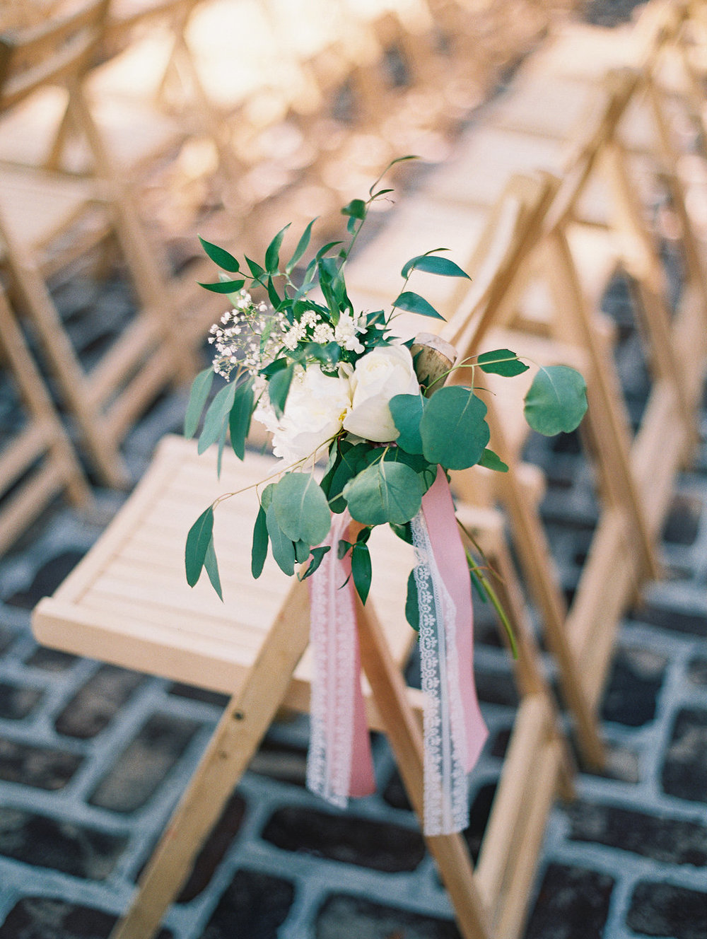 Pew markers by Stephanie Gibbs Events for Oldfield Club wedding ceremony  //  A Lowcountry Wedding Magazine