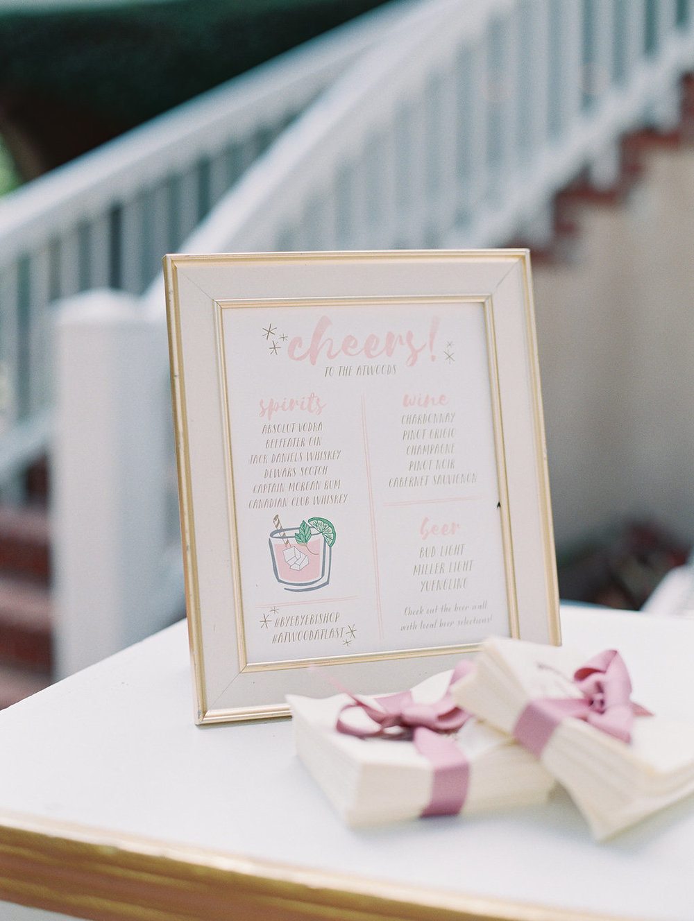 Oldfield Club wedding reception with blush details at A Charleston Bride  //  Hilton Head photographs by Landon Jacobs  //  A Lowcountry Wedding Magazine