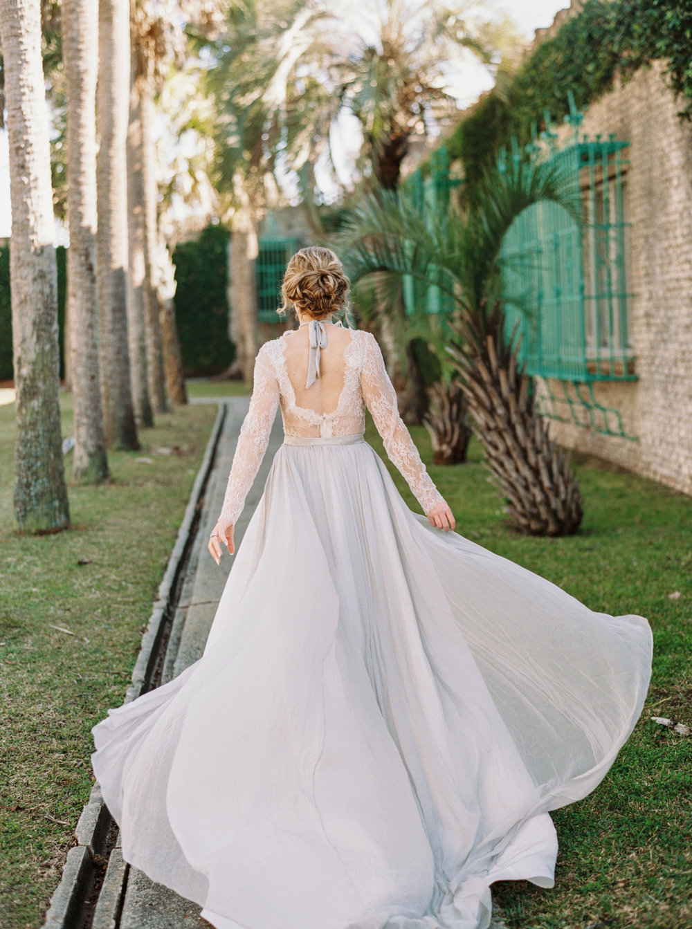 Buckingham gown by Emily Kotarski Bridal at Atalaya Castle // Photographed by JoPhoto // Event Styling by The Petal Report  // A Lowcountry Wedding Magazine