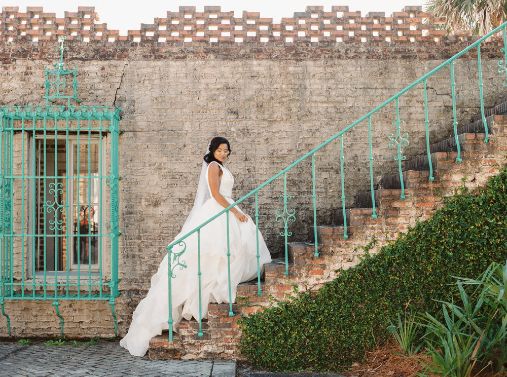 Meghan Pinckney in Morilee by Madeline Gardner dress from Mary Elizabeth Bridal at Atalaya Castle // Photographed by JoPhoto // Event Styling by The Petal Report  // A Lowcountry Wedding Magazine