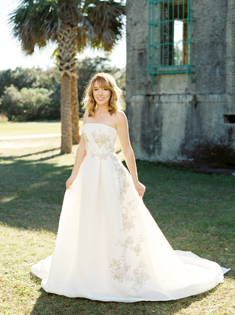 Sachin & Babi gown from Betty Bridal Atelier at Atalaya Castle // Photographed by JoPhoto // Event Styling by The Petal Report  // A Lowcountry Wedding Magazine