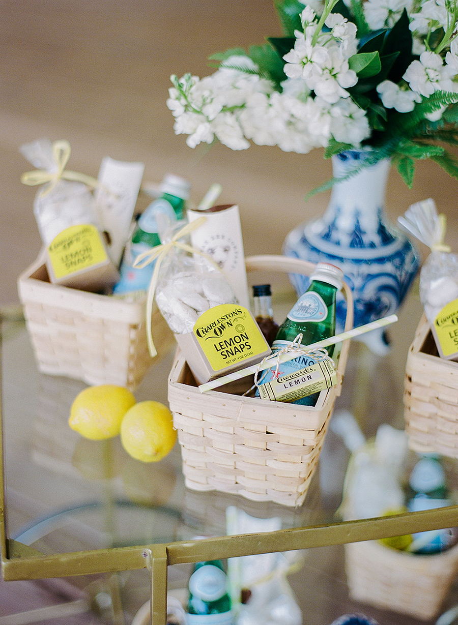 Custom welcome bags by Southern Surcie  //  Charleston wedding photography by Anne Rhett  //  A Lowcountry Wedding Magazine