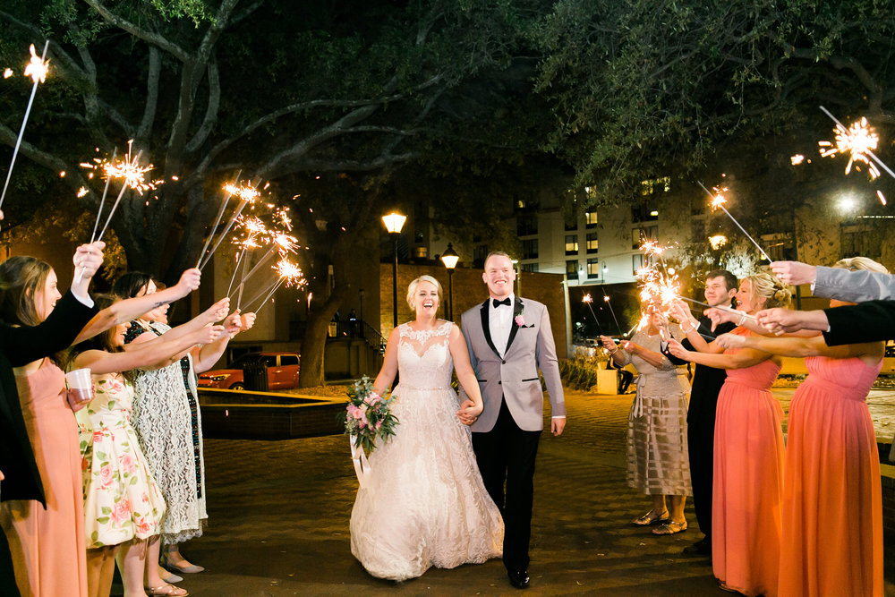Sparkler exit at Garibaldi Cafe   //  JB Marie Photography
