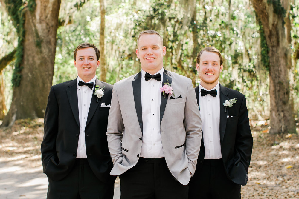 Savannah Groom in grey tuxedo  //  A Lowcountry Wedding Magazine