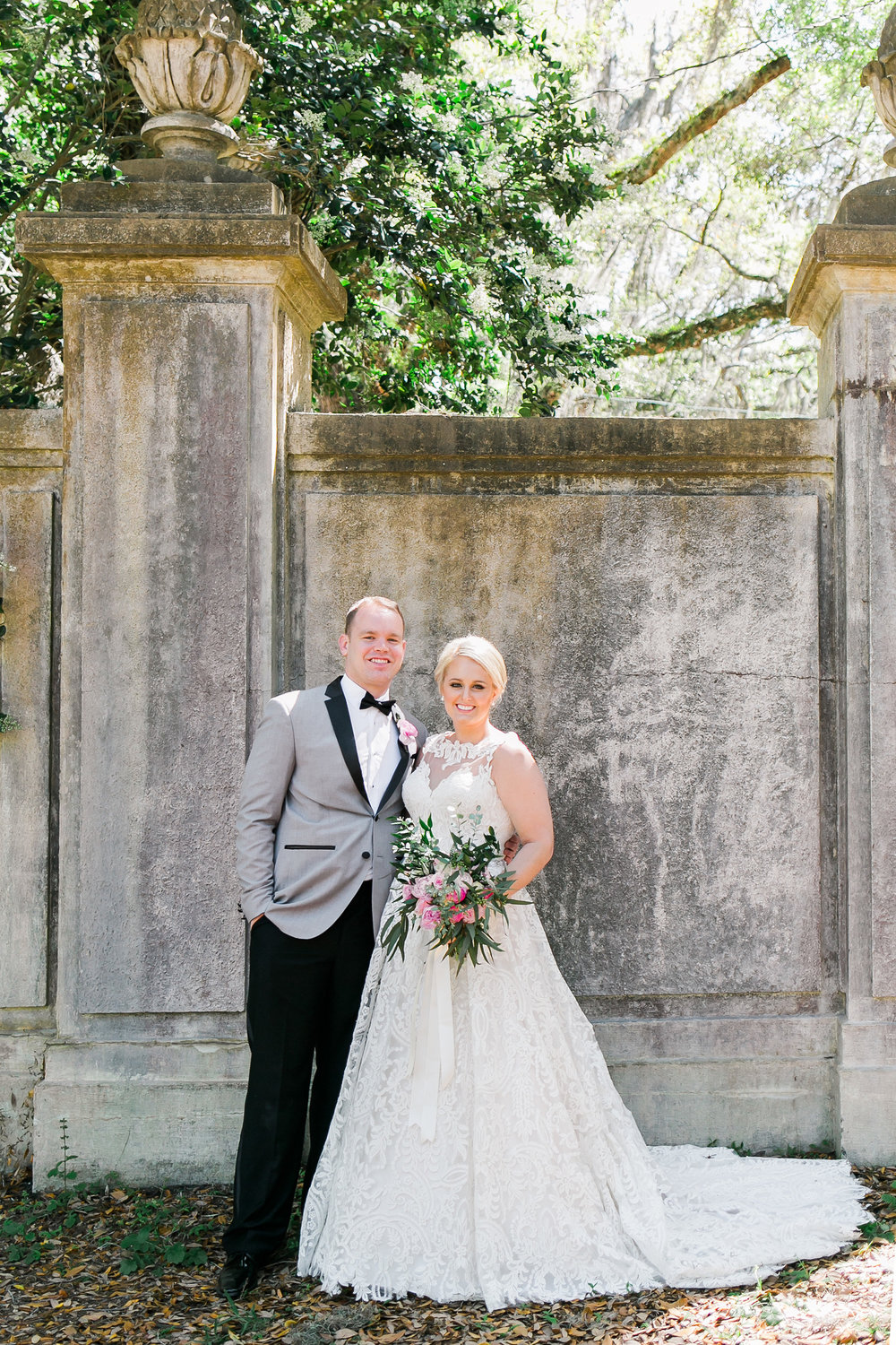 Savannah GA wedding portraits at Wormsloe Plantation by JB Marie Photography