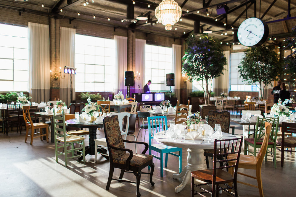 Eclectic wedding reception decor at Soho South Cafe  //  A Lowcountry Wedding Magazine