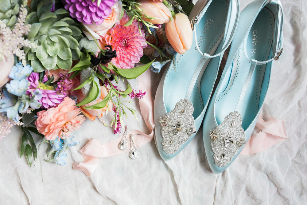 Light Blue wedding shoes photographed by Jenna Marie Weddings  //  A Lowcountry Wedding Magazine & Blog
