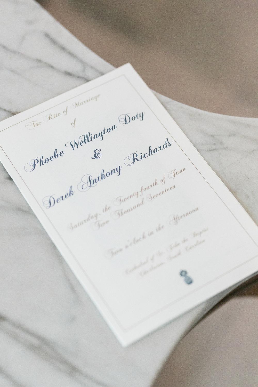 Charleston wedding program by Dodeline Design  //  A Lowcountry Wedding Magazine & Blog
