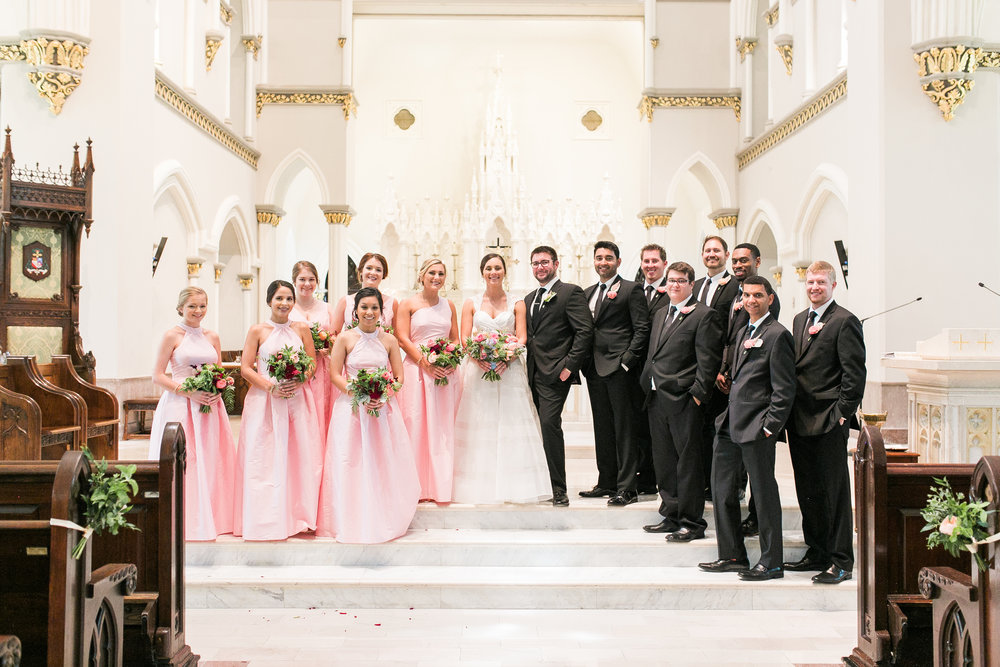 Traditional wedding ceremony at Cathedral of St. John the Baptist in Charleston, SC  //  A Lowcountry Wedding Magazine & Blog