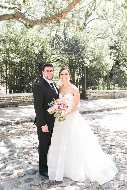 Phoebe & Derek's wedding portraits at The Thomas Bennett House in Charleston, SC