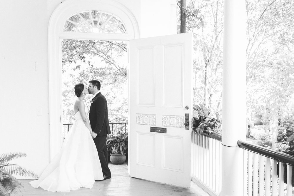Charleston wedding portraits by Jenna Marie Weddings  Colorful outdoor reception at The Thomas Bennett House wedding in Charleston, SC  //  photographed by Jenna Weddings  Traditional wedding ceremony at Cathedral of St. John the Baptist in Charleston, SC  //  A Lowcountry Wedding Magazine & Blog