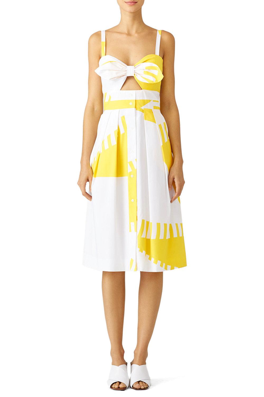 Milly Yellow Printed Jordan Dress.jpg