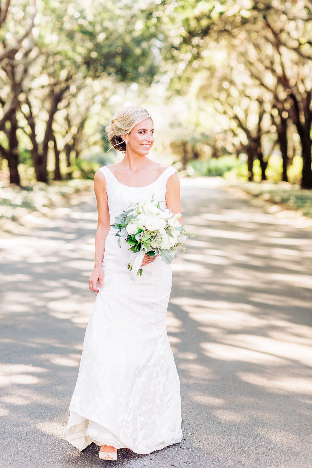 Bride in a lace Modern Trousseau gown at DeBordieu Club wedding in Georgetown, SC  //  A Lowcountry Wedding Magazine & Blog