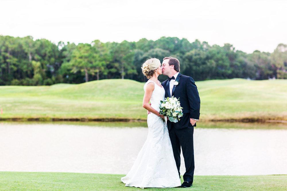 Myrtle Beach bride & groom at DeBordieu Club in Georgetown, SC