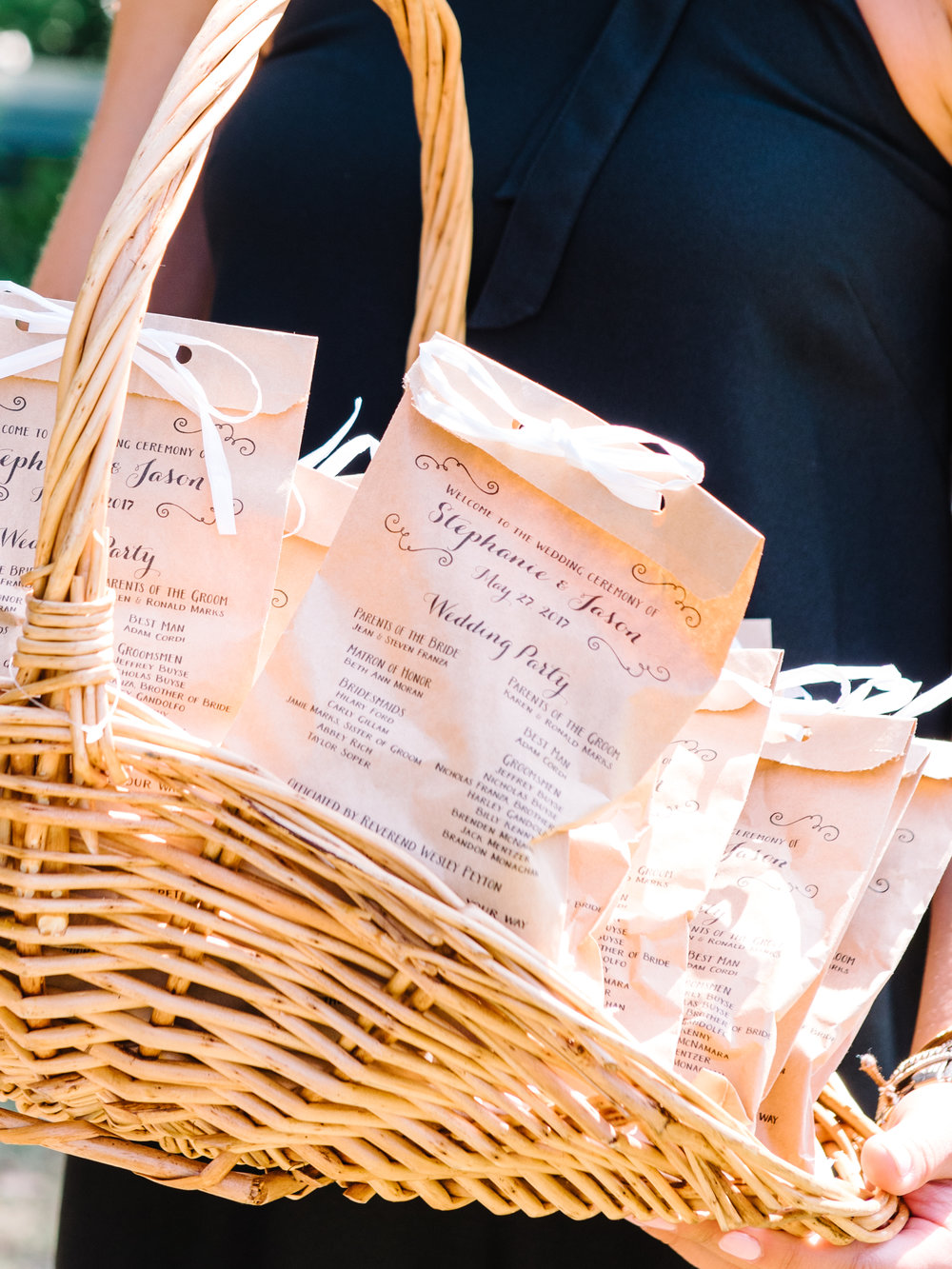 Custom wedding programs at Wachesaw Plantation ceremony photographed by Pasha Belman Photography