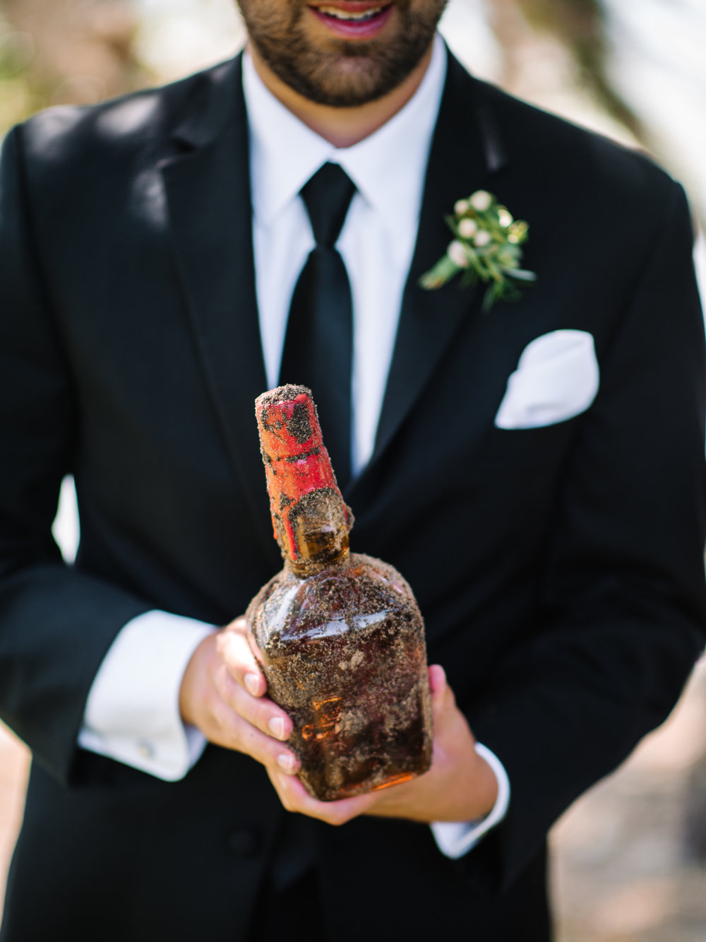 Burying the Bourbon tradition at wedding in Murrells Inlet, SC  //  A Lowcountry Wedding Magazine & Blog