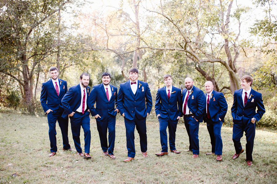 Groomsmen in navy suits at Savannah GA wedding  //  A Lowcountry Wedding Magazine