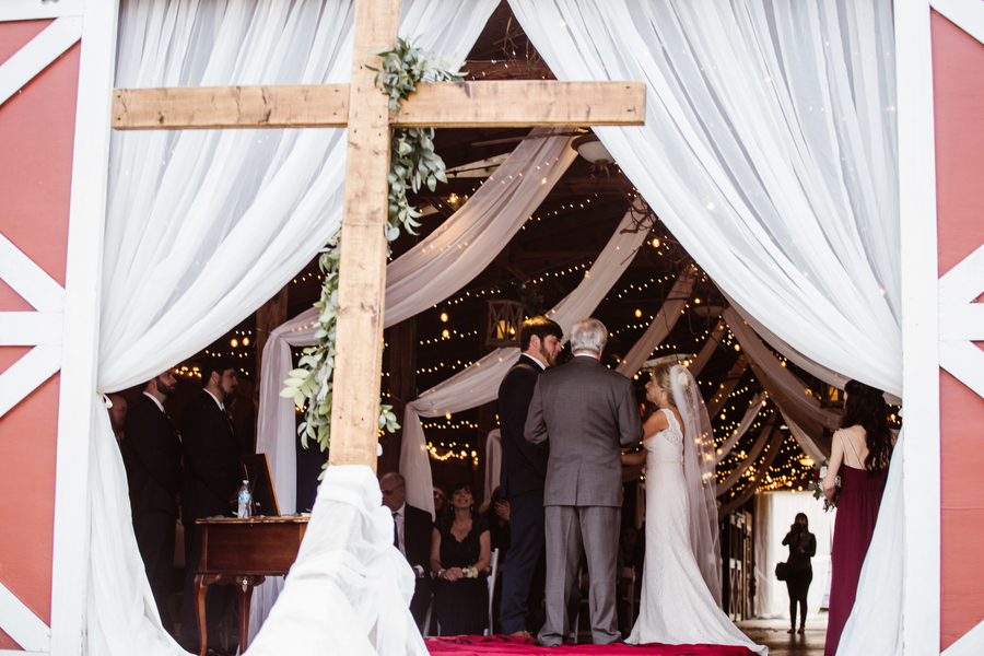 Rustic barn wedding at Red Gate Farms in Savannah GA  //  A Lowcountry Wedding Magazine