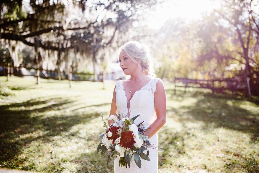 Savannah bride's wedding portraits at Red Gate Farms  //  A Lowcountry Wedding Magazine