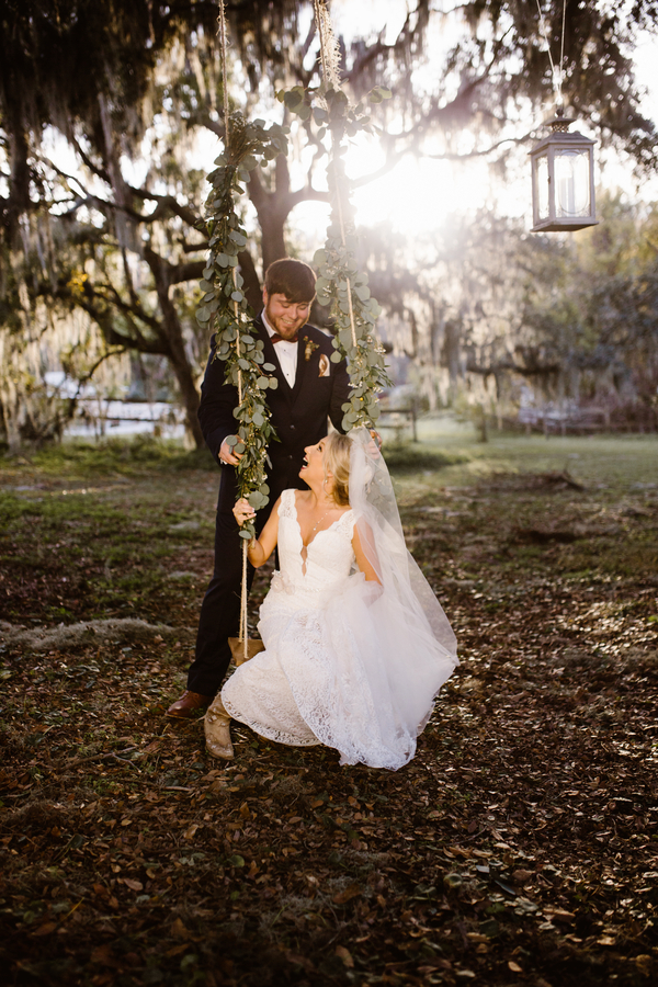 Bride & Groom's wedding portraits at Red Gate Farms  //  A Lowcountry Wedding Magazine