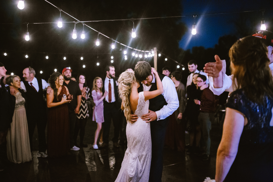 Savannah Bride & Groom's first dance at Red Gate Farms  //  A Lowcountry Wedding Magazine