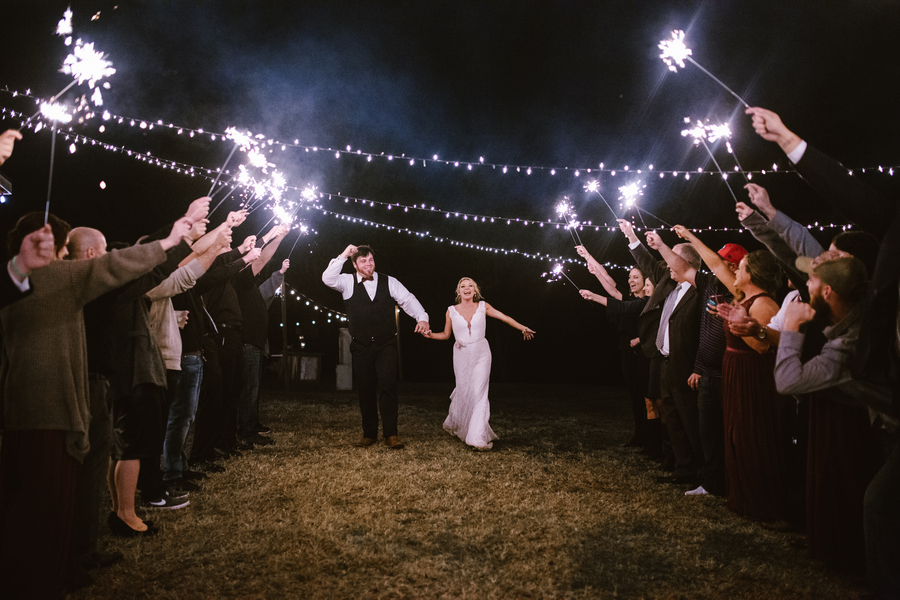 Savannah Bride & Groom's departure at Red Gate Farms  //  A Lowcountry Wedding Magazine