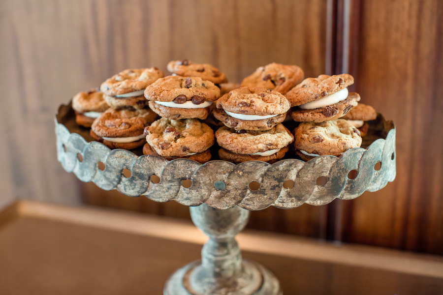 Dessert bar with chocolate chip ice cream cookie sandwiches at Charleston SC wedding   //  A Lowcountry Wedding Magazine & Blog
