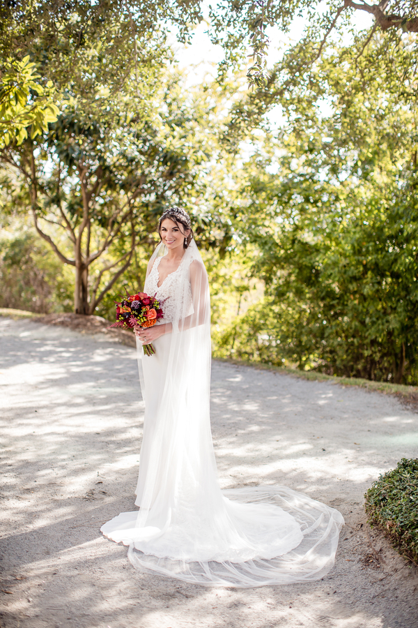 Charleston bride in a lace gown for wedding at Harborside East   //  A Lowcountry Wedding Magazine & Blog