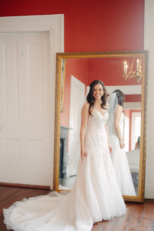 Charleston bride in a Stella York gown for wedding at The Wickliffe House  // photos by Riverland Studios  //  A Lowcountry Wedding Magazine