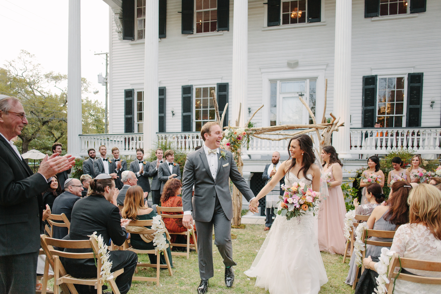 Outdoor Jewish wedding ceremony on the lawn at The Wickliffe House by Riverland Studios  //  A Lowcountry Wedding Magazine
