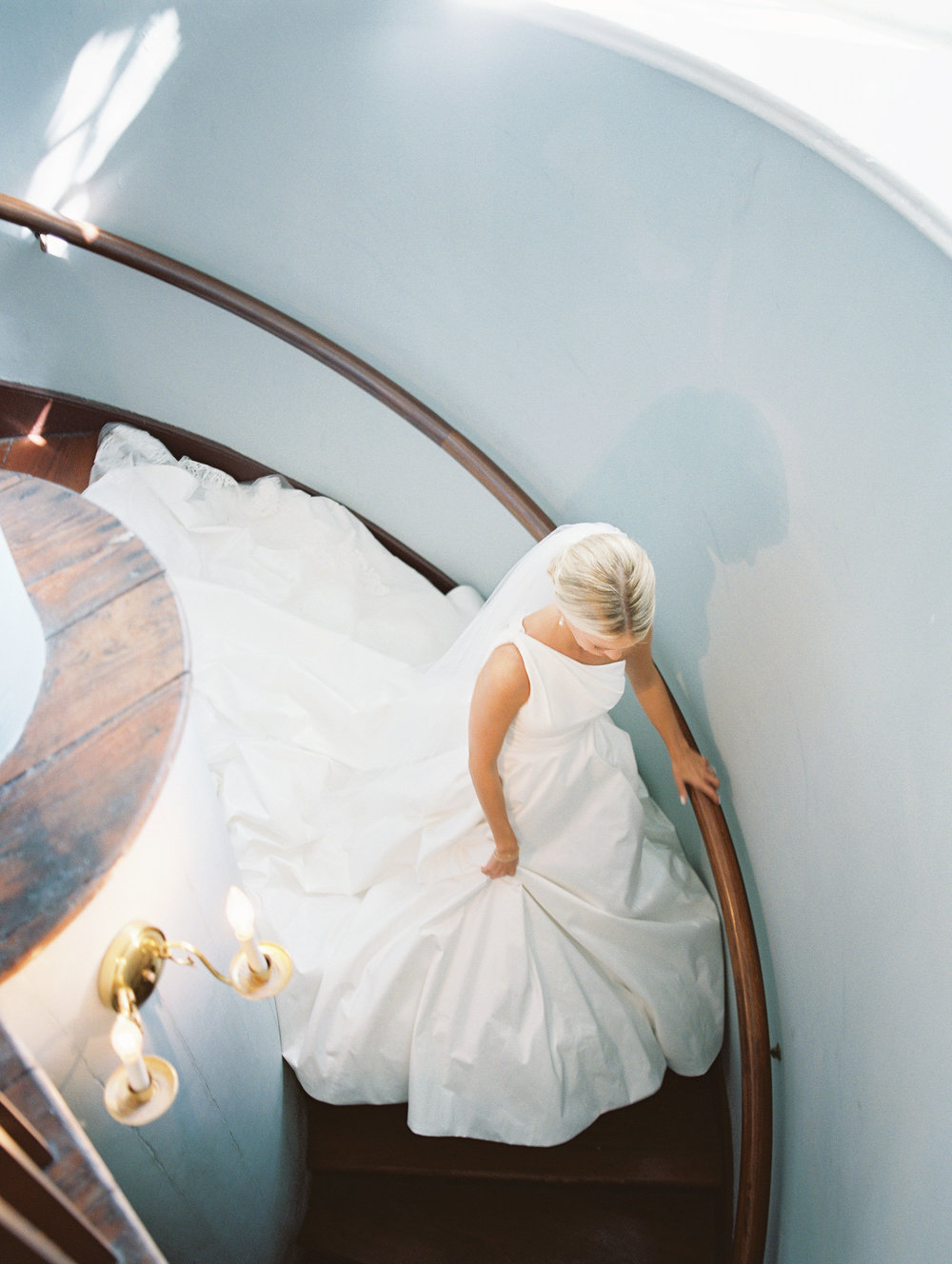 Charleston bride in Romona Keveza gown from Maddison Row  //  Wedding photography by Landon Jacob  //  A Lowcountry Wedding Magazine