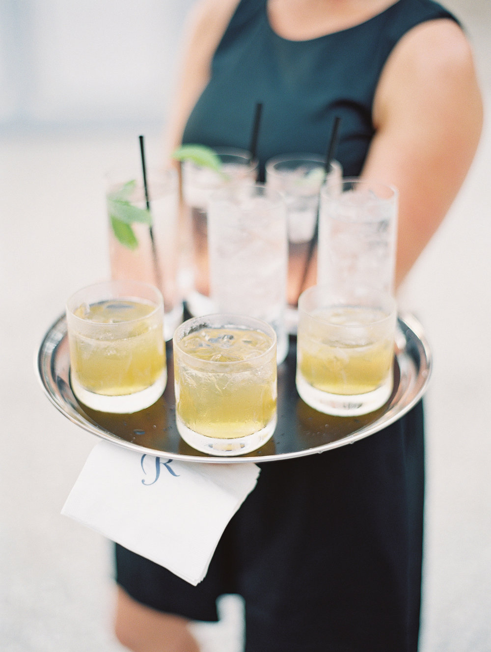 Specialty cocktails at Charleston SC wedding  //  Wedding photography by Landon Jacob  //  A Lowcountry Wedding Magazine