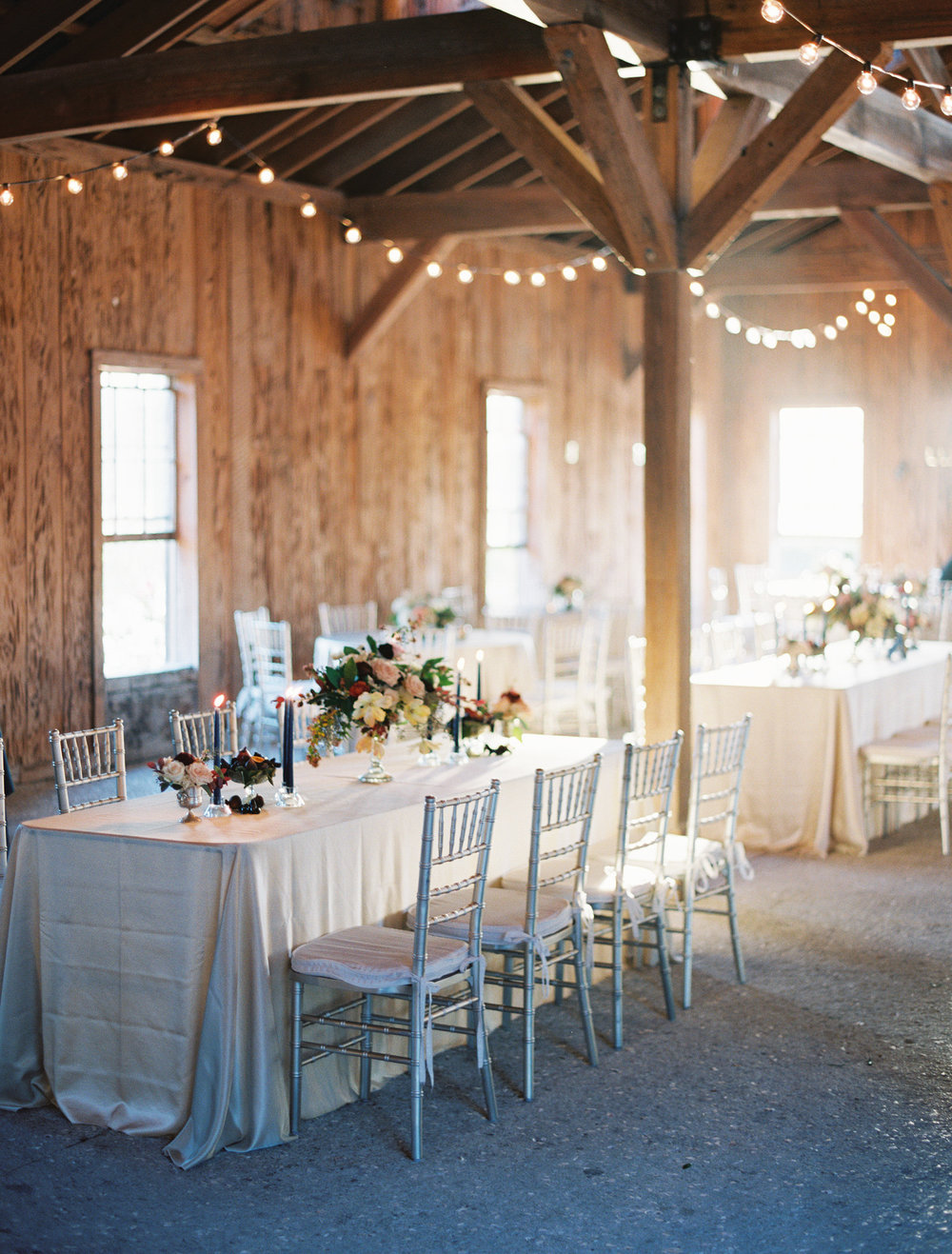 Wedding reception at Boone Hall Plantation's Cotton Dock photographed by Landon Jacob  //  A Lowcountry Wedding Magazine
