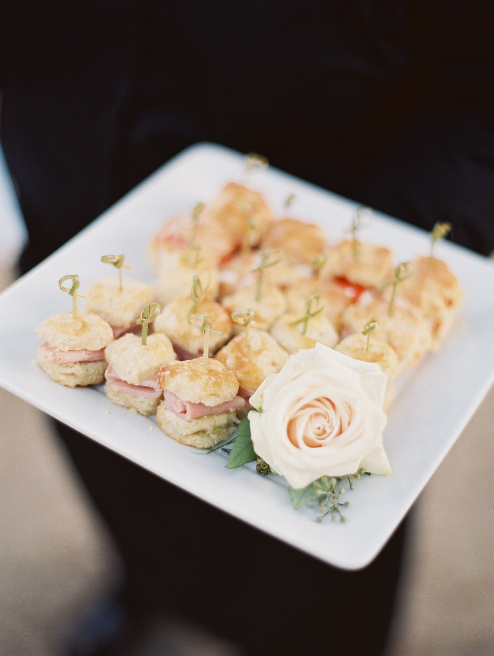 Ham biscuits by Cru Catering at Boone Hall Plantation