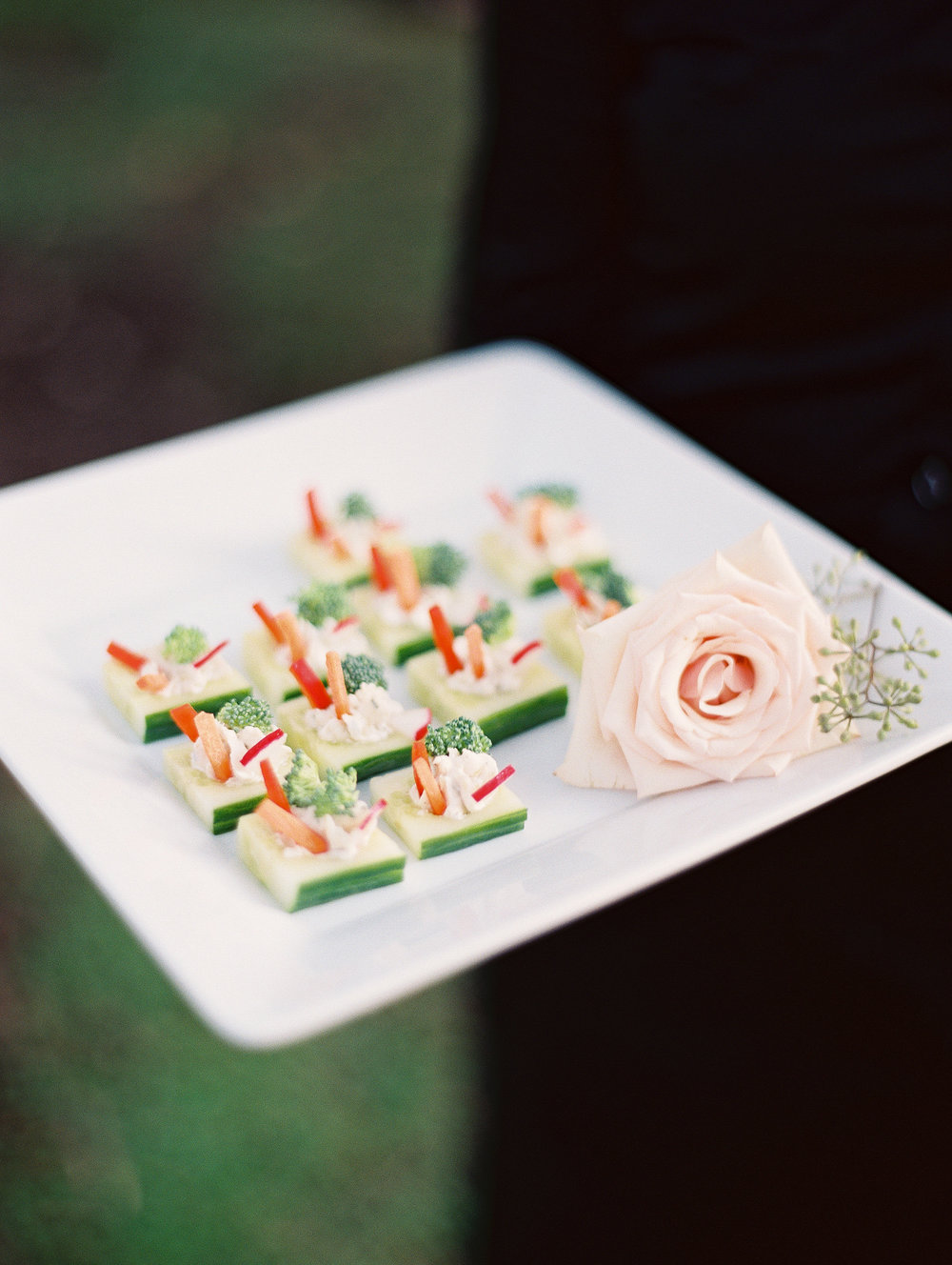 Vegetarian passed hors d'oeuvres by Cru Catering for Charleston wedding  // A Lowcountry Wedding Magazine