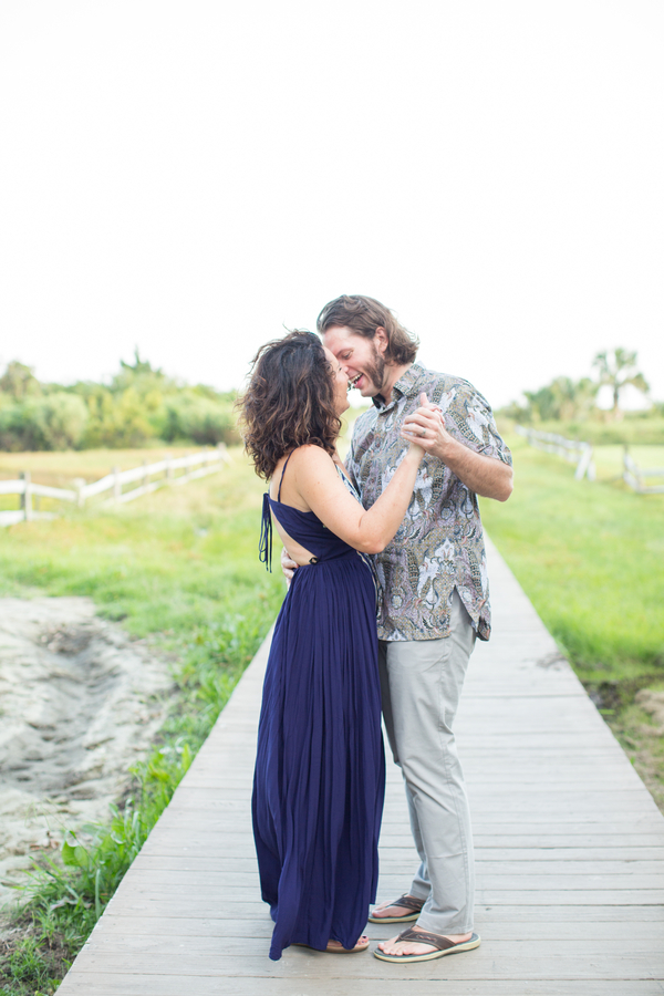 Charleston engagement photos on Sullivan's Island by Jessica Hunt Photography  //  A Lowcountry Wedding Magazine