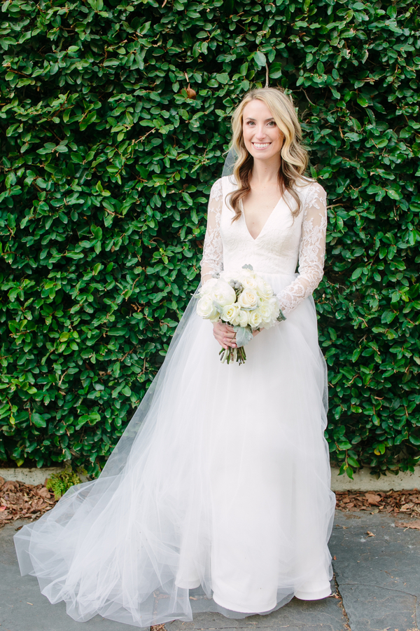 Charleston bride's Kate McDonald lace gown  //  A Lowcountry Wedding Magazine