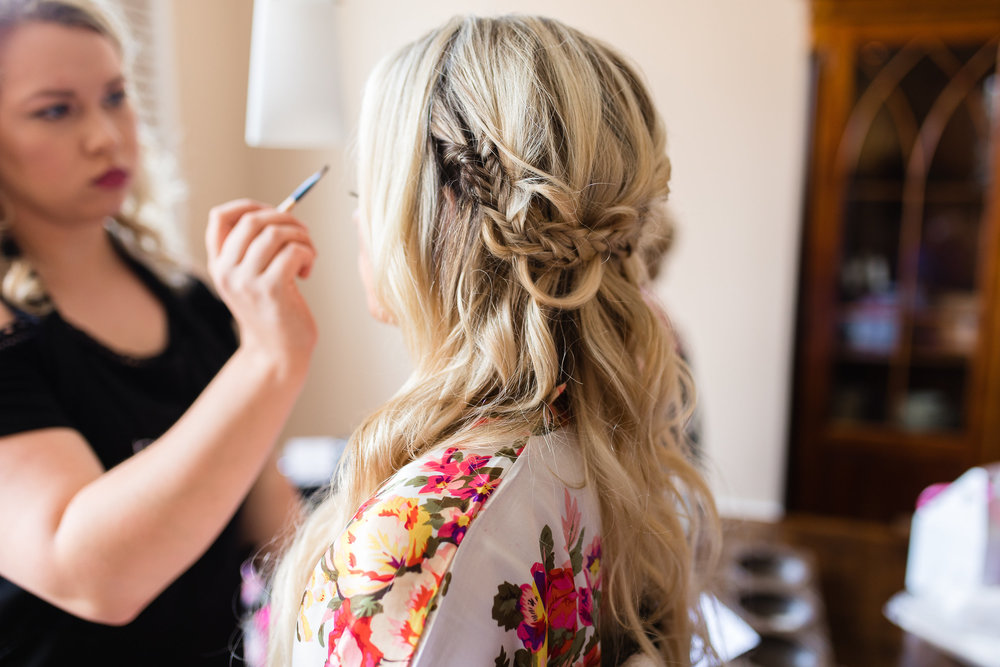 Beaufort SC bride's braided hairstyle  //  Hilton Head wedding hairstylist Christy Hansen