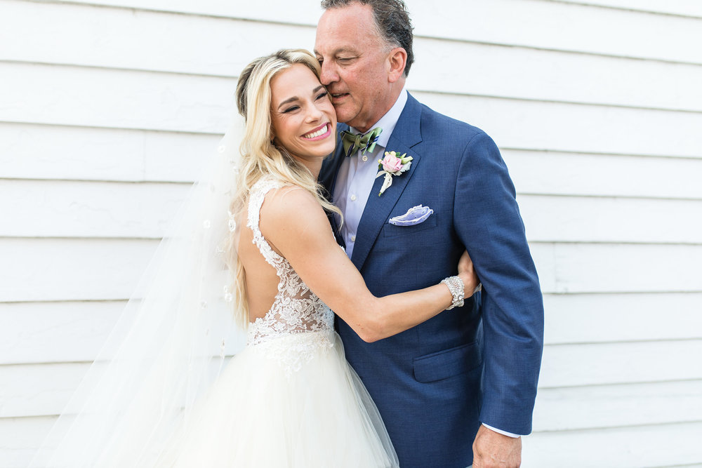 First look with Father of the Bride by Garter + Whiskey  //  A Lowcountry Wedding Magazine