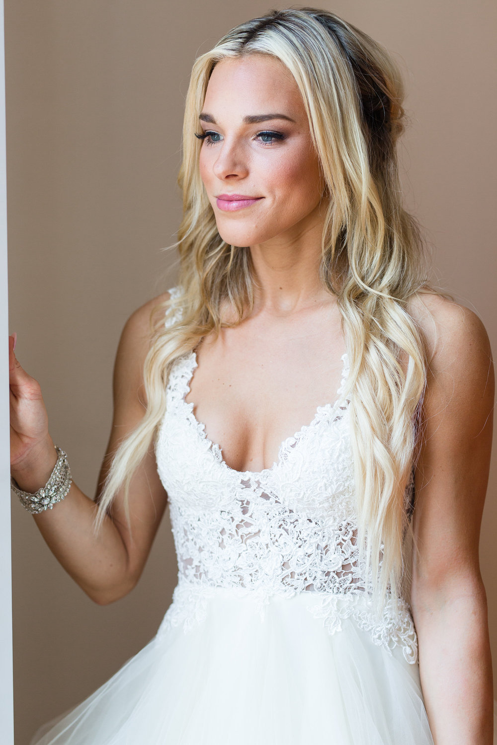 Hilton Head Bride in lace Winnie Couture gown  //  A Lowcountry Wedding Magazine