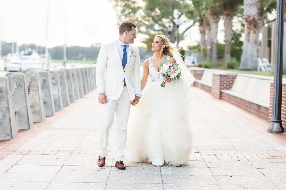 Carly + Patrick's Beaufort Sc wedding photos at The Henry C. Chambers Waterfront Park