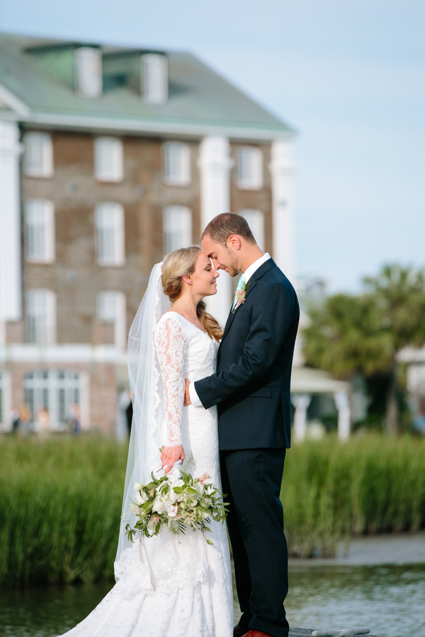 Wedding portraits at The Historic Rice Mill Building by Riverland Studios