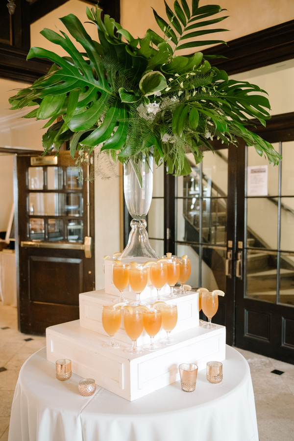 Specialty drink tower at Charleston SC wedding at The Historic Rice Mill Building   //  A Lowcountry Wedding Magazine