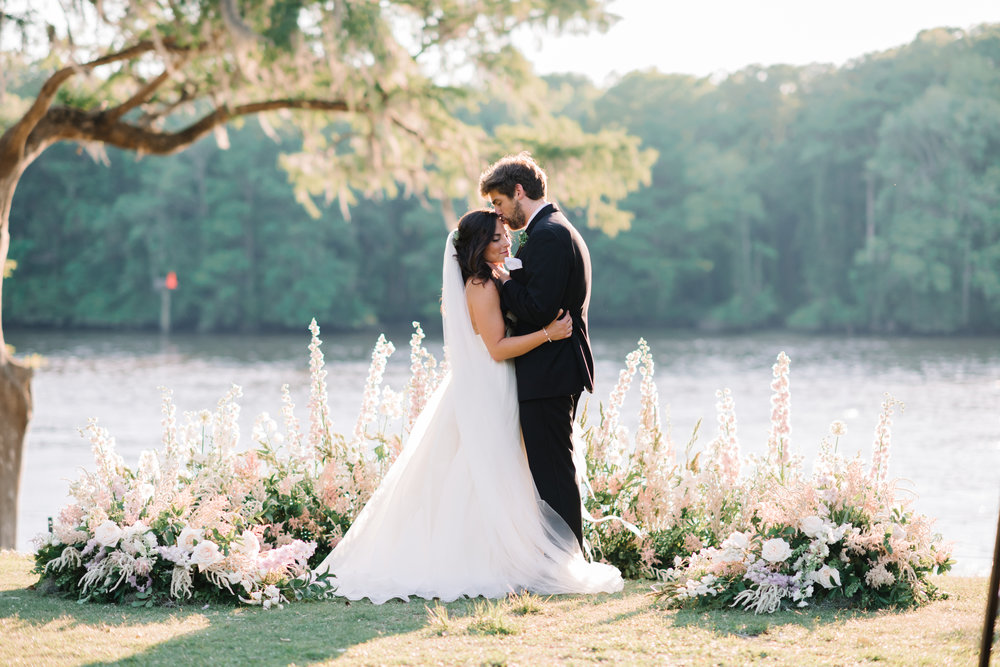 Myrtle Beach wedding portraits at Wachesaw Plantation