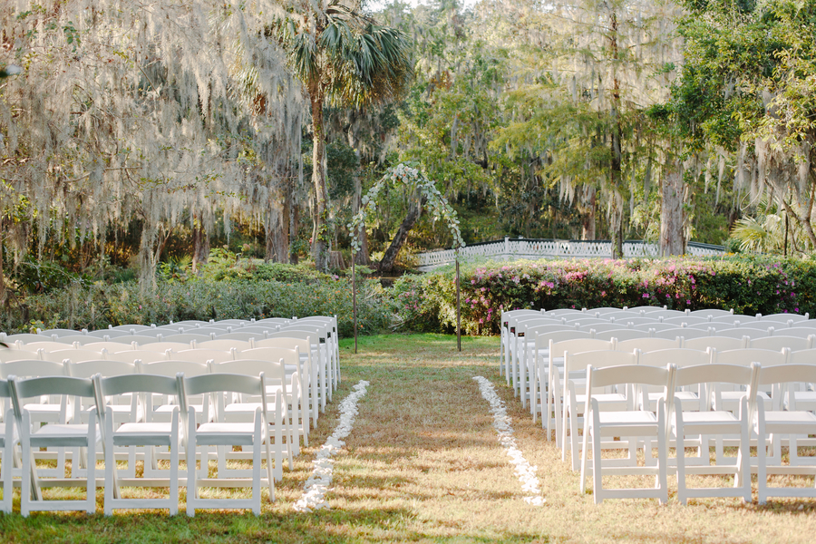 Outdoor wedding ceremony at Magnolia Plantation and Gardens in Charleston SC  //  A Lowcountry Wedding Magazine