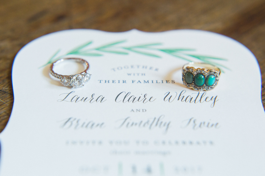 Charleston wedding invitations  //  photographed by Catherine Ann Photography