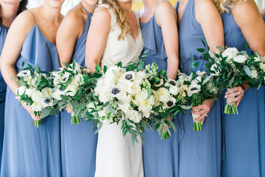 Bridesmaids bouquets at wedding in Charleston SC  //  Catherine Ann Photography